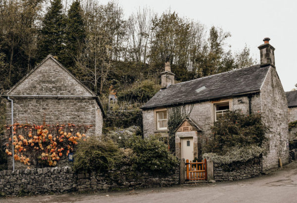 a cottage and gatehouse