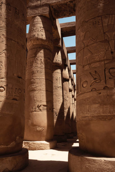 columns in Egypt's Karnak Temple complex