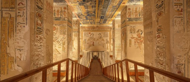 stairs in a tomb in the Valley of the Kings in Egypt