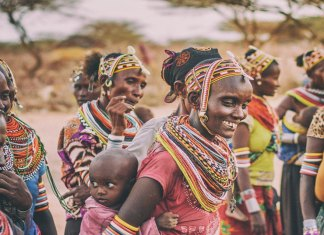 rural women carrying water in kenya