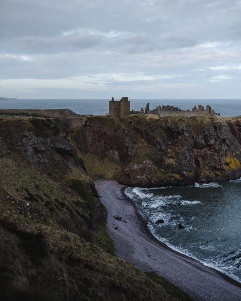 castle on jutting cliff