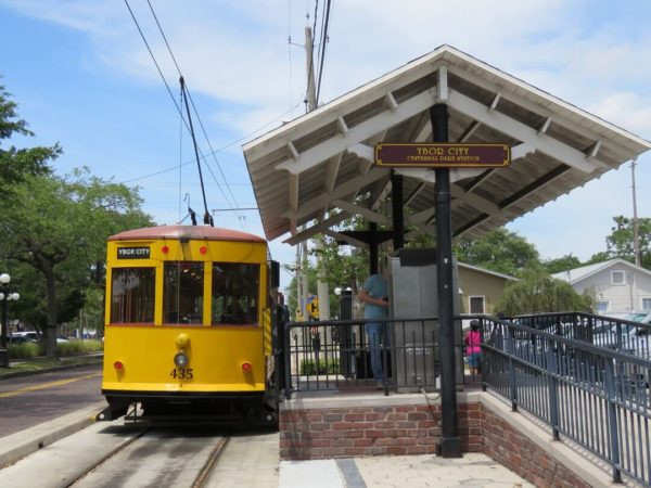 Ybor City things to do historic yellow tram.