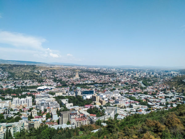 Travel to Mtatsminda Park in Tbilisi for this incredible view.