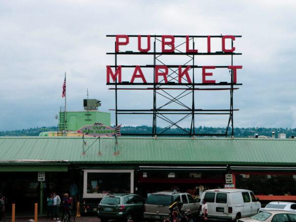 pikes place public market sign