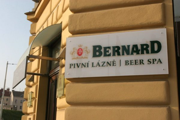 entrance to a beer spa in prague