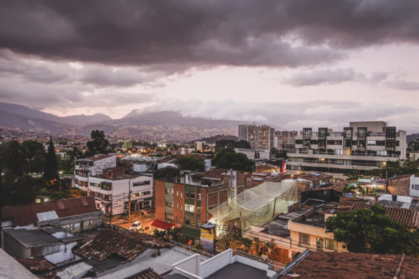 Views of a city in Colombia