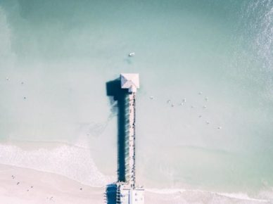 aerial view pier