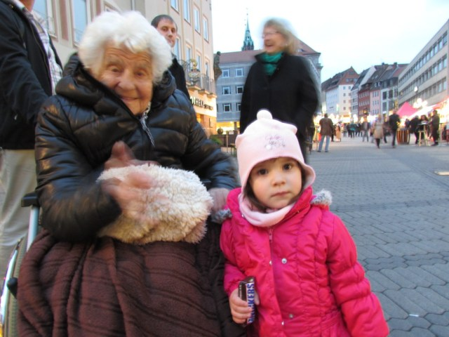 Ella meets a two-year-old in Nuremberg, a 101 year age difference.
