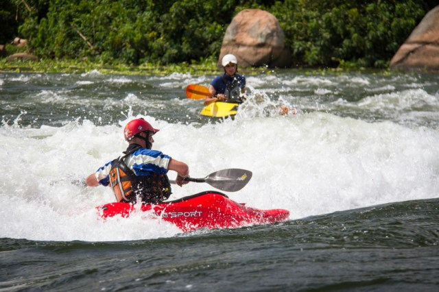 Kayaking the river Nile, Uganda