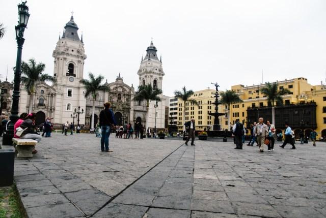 Plaza Meyor in Lima Centro. Photo Credit: Jeff McAllister.