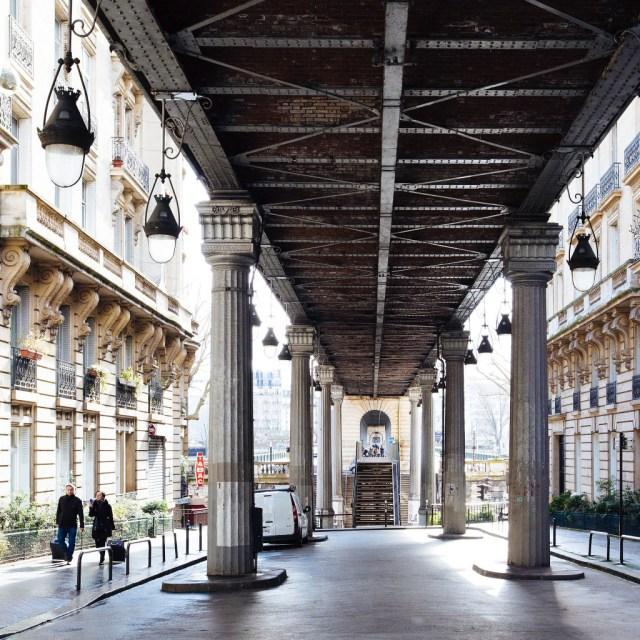 Under the Pont du Bir-Hakeim, hidden Paris
