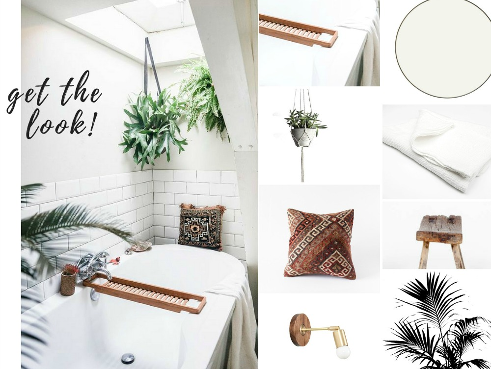 the look: boho bathroom