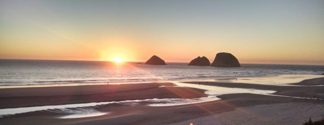 A sunset in Oceanside Oregon
