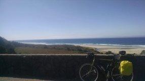 My bike with a coastal view