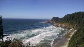 Looking North to Heceta Head Lighthouse