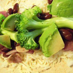 Wraps with broccoli.