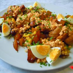 Chicken mango walnut salad