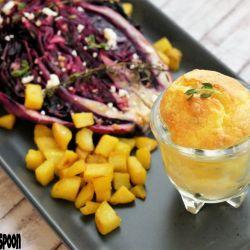 Roasted lemon-garlic cabbage.