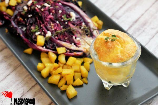 Roasted lemon-garlic cabbage