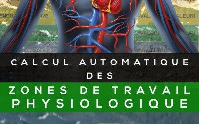 CALCUL AUTOMATIQUE DES ZONES DE TRAVAIL PHYSIOLOGIQUE EN FONCTION DES FRÉQUENCES CARDIAQUES