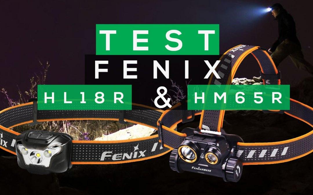TEST LAMPES FRONTALES FENIX HL18R ET HM65R