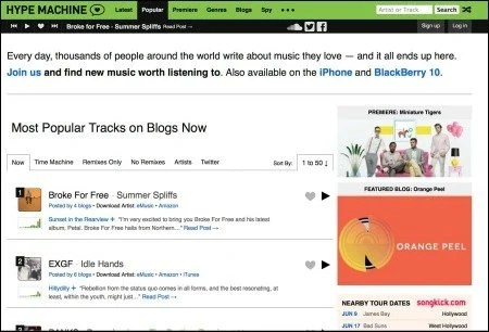 Broke for Free on Hypem