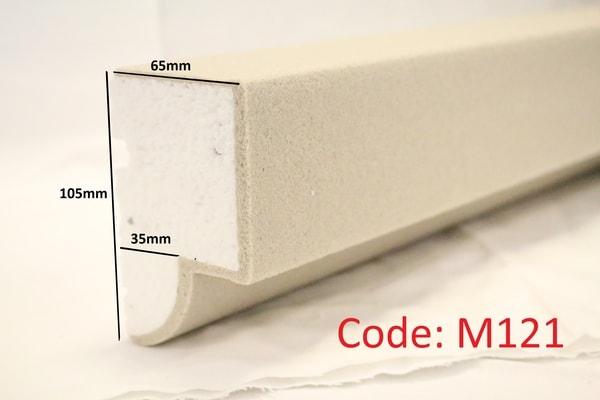 105mm x 65mm Reveal in sandstone