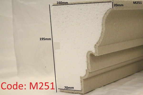 195mm x 160mm Grand Moulding in sandstone