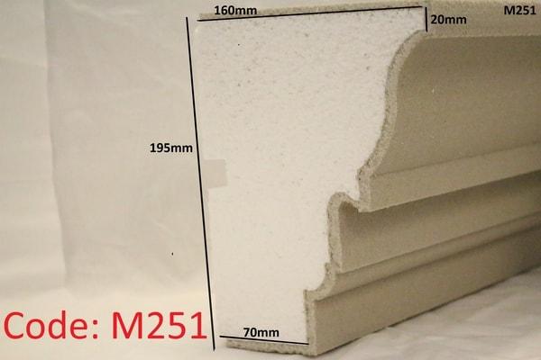 195mm x 160mm Grand Moulding in sandstone