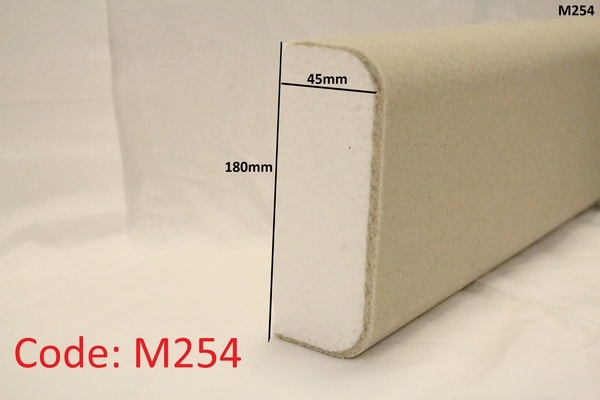 180mm x 45mm curved edge reveal in sandstone