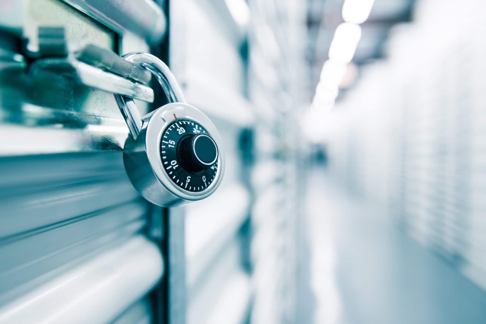 lock on storage unit door