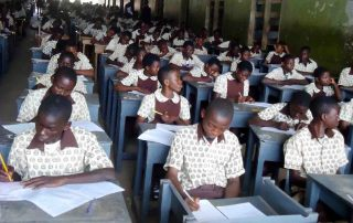 Nigerian Students writing exam