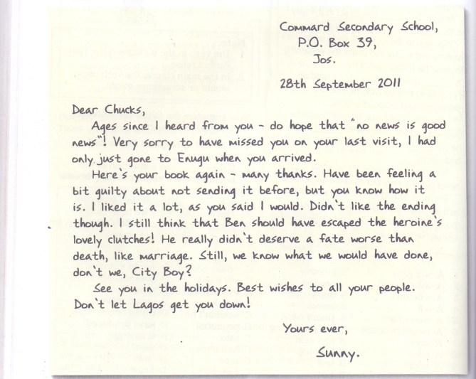 Grammar Clinic Letter Writing Informal Letter
