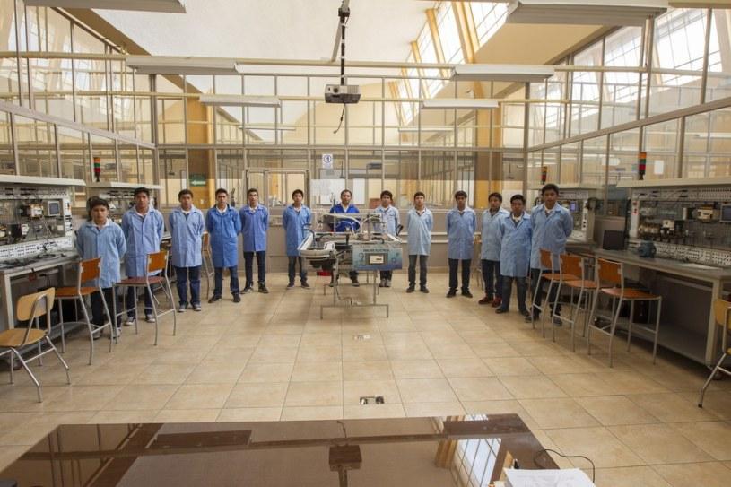 Students of the Don Bosco Technical Collegue in Quito, Ecuador. Guillermo Granja - Reuters