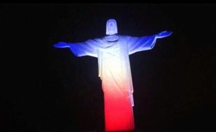 Brazil - Rio De Janiero's Christ The Redeemer in French colours
