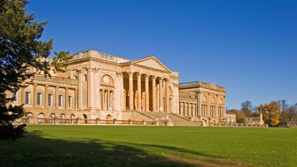A2EFNJ South Front of Stowe School Buckinghamshire England UK. Image shot 2006. Exact date unknown.