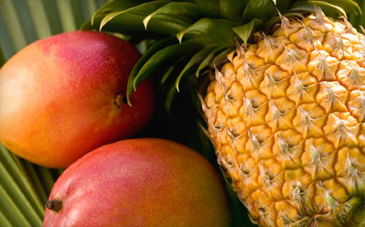 pineapple and mangoes