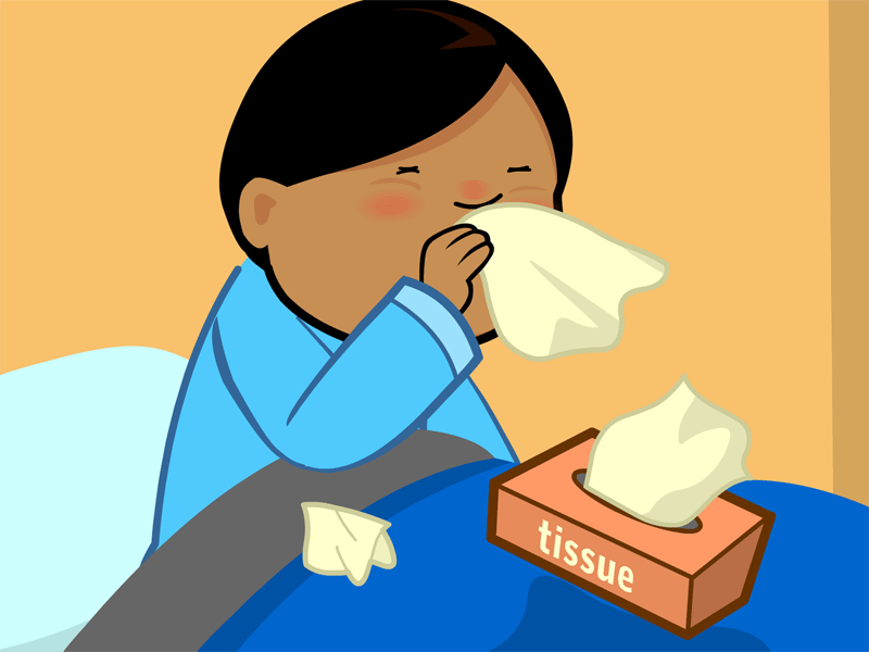 Runny nose cold weather
