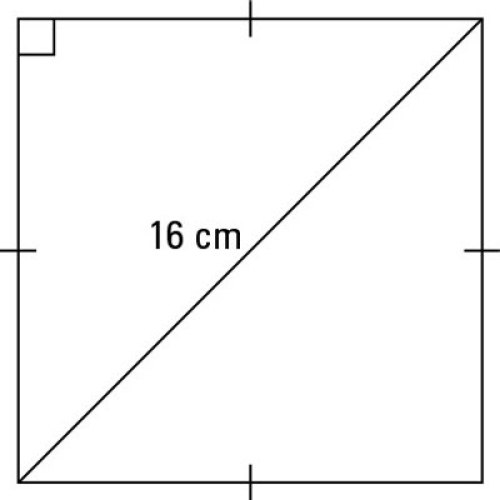 square with diagonal