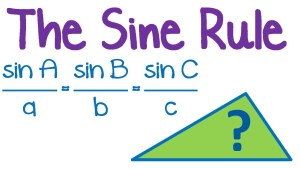 SS2 Mathematics Third Term: Trigonometry: Derivation of Sine Rule and Application; Derivation of Cosines Rule and Application