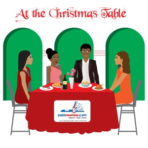AT THE CHRISTMAS TABLE.