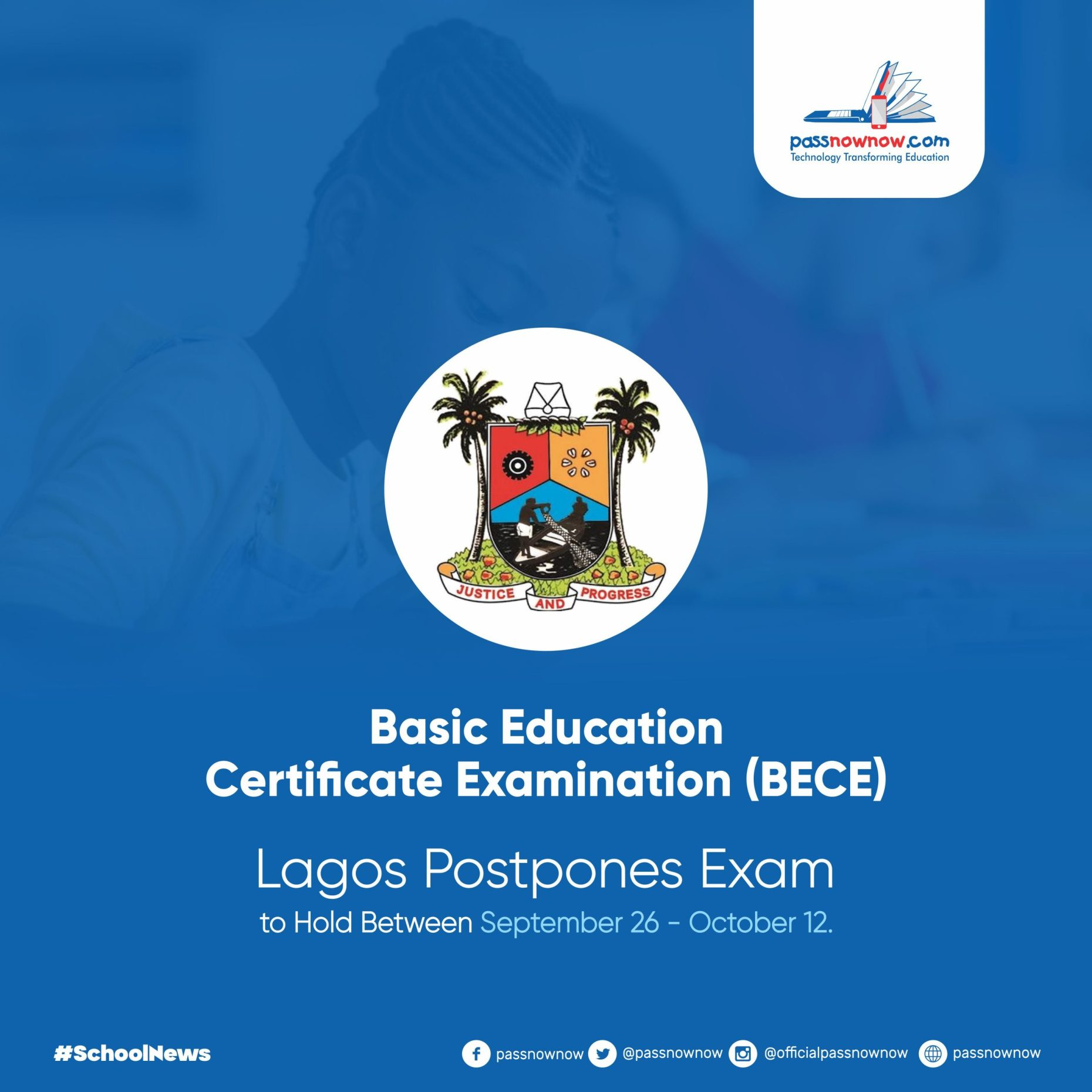 Basic Education Certificate Examination Lagos Postpones Exams