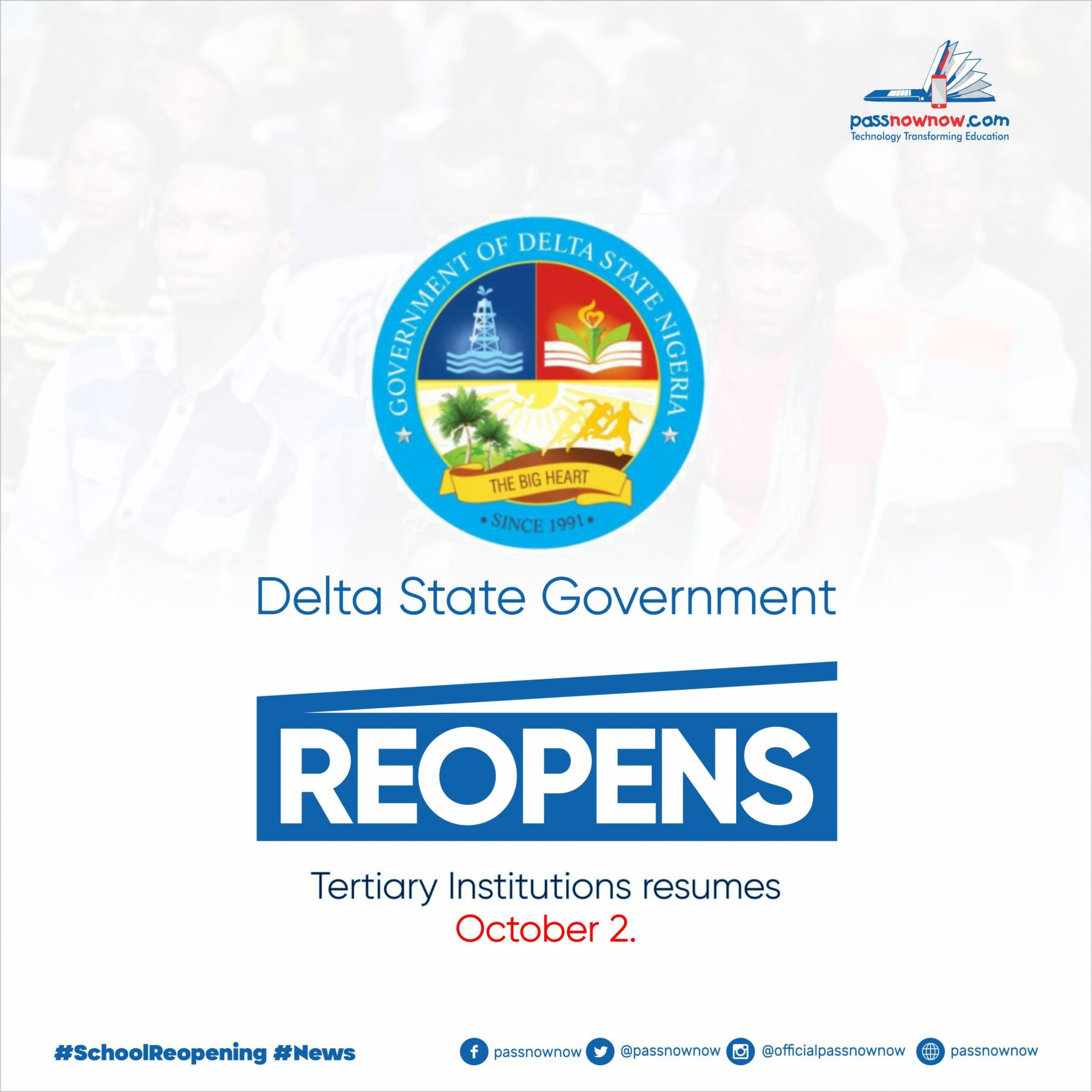 delta state government reopens tertiary institutions