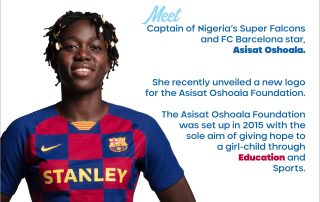 Asisat Oshoala; Education of the Girl Child