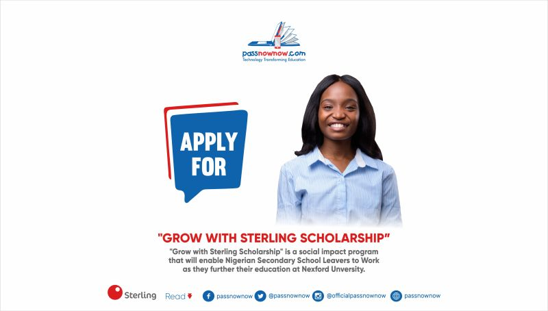 call for application grow with sterling scholarship
