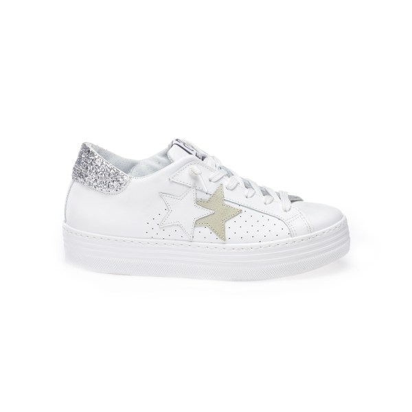 SNEAKER LOW HS BIANCO-GHIACCIO-ARGENTO