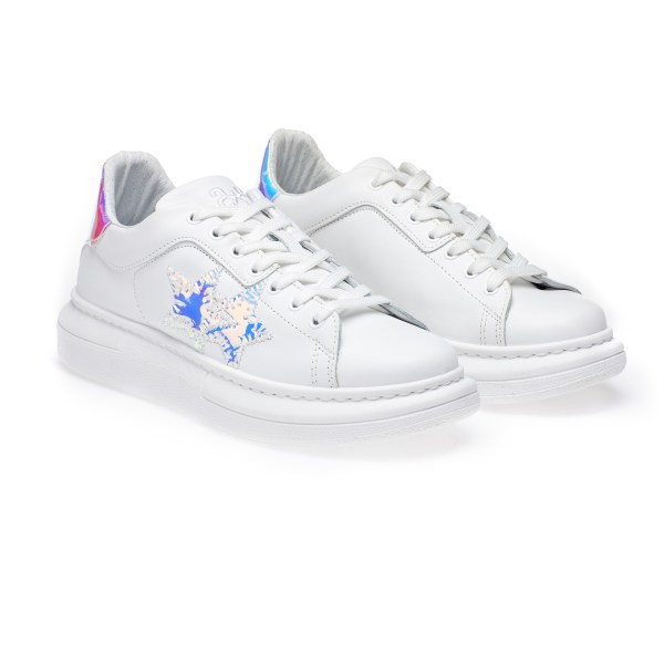 SNEAKER LOW BIANCO-CANGIANTE