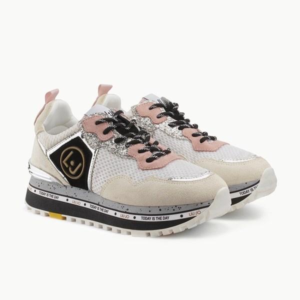 Sneakers Platform In Suede
