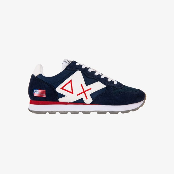 TOM LOGO PATCH FLAG NAVY BLUE/BIANCO