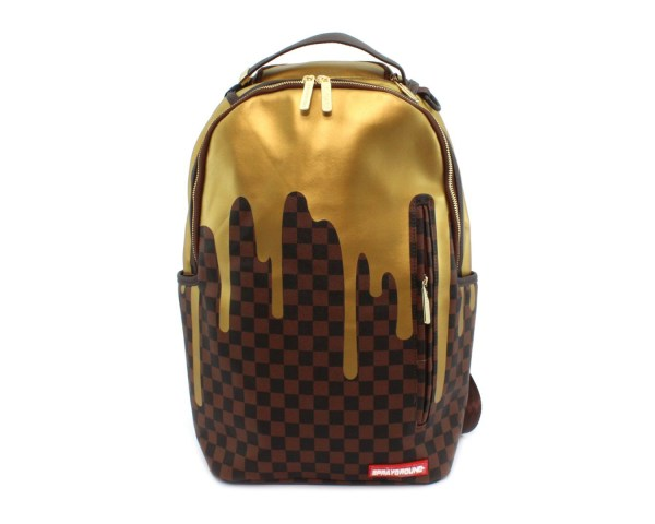 SPRAYGROUND GOLD CHECKERED DRIPS
